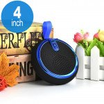 Round Style Portable Bluetooth Speaker with Carry Strap BS119 (Blue)