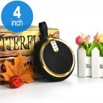 Round Style Portable Bluetooth Speaker with Carry Strap BS119 (Gold)