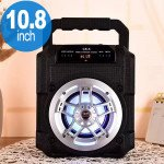 Wholesale Loud Boom Box LED Light Portable Bluetooth Speaker with Handle CS5 (Black)