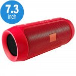 Loud Sound Portable Bluetooth Speaker with Power Bank Feature H3-B (Red)