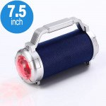 Disco Beam LED Light Projector Bluetooth Speaker with Carry Handle J15 (Navy Blue)
