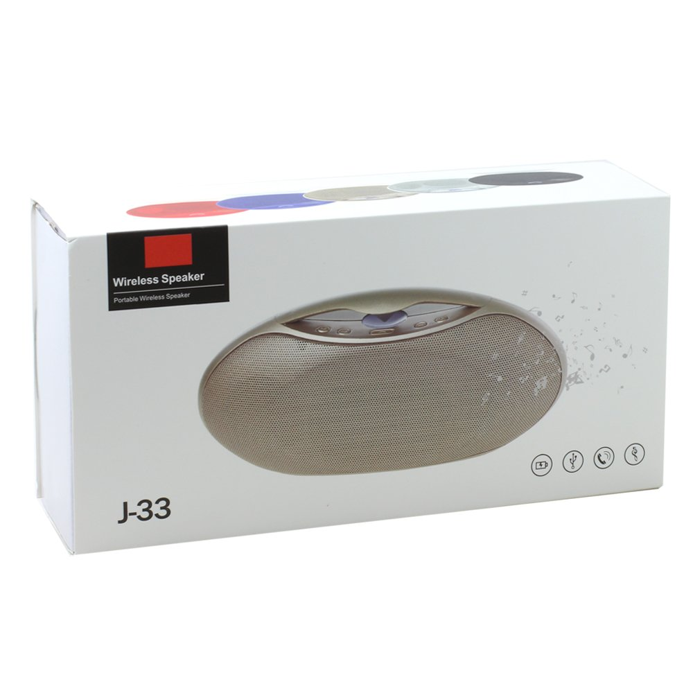 Wholesale Portable Wireless Bluetooth Speaker J33 (Black)