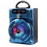 Wholesale Handle Bar LED Light Portable Bluetooth Speaker JHW802 (Blue)