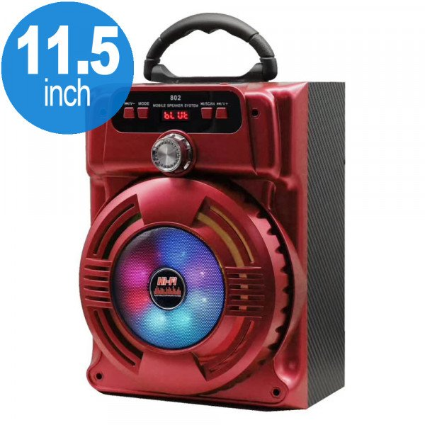 Wholesale Handle Bar LED Light Portable Bluetooth Speaker JHW802 (Red)