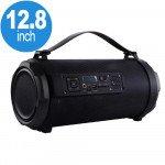 Loud Flashing LED Light Drum Style Portable Wireless Bluetooth Speaker with Handle K2201 (Black)