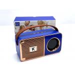 Wholesale Retro On The Go Radio Style Portable Bluetooth Speaker K25 (Blue)