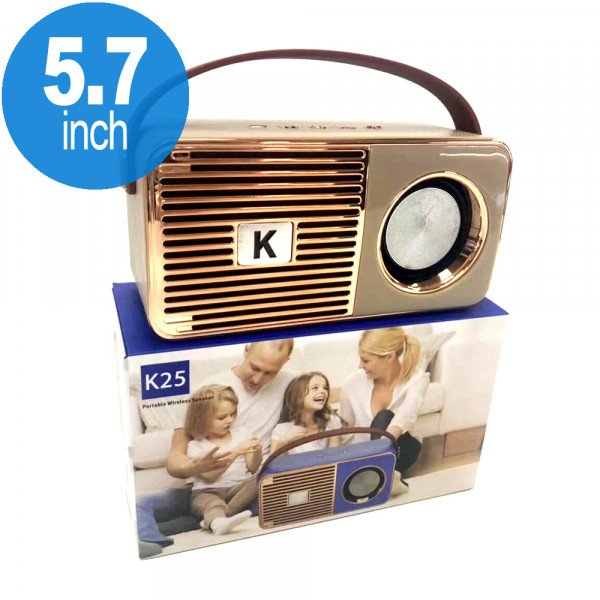 Wholesale Retro On The Go Radio Style Portable Bluetooth Speaker K25 (Gold)
