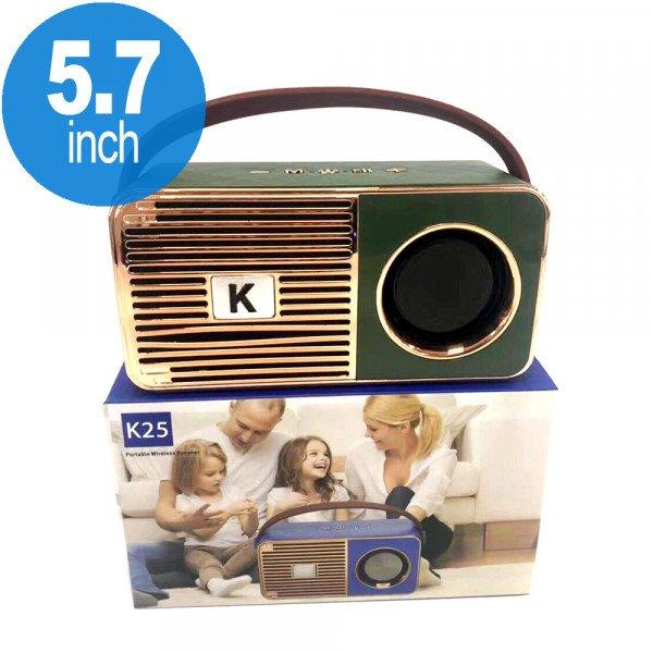 Wholesale Retro On The Go Radio Style Portable Bluetooth Speaker K25 (Green)