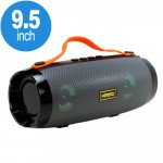 LED Light Portable Bluetooth Speaker with Carry Handle and Phone Stand (Gray)