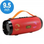 LED Light Portable Bluetooth Speaker with Carry Handle and Phone Stand (Red)