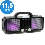 Full LED Light Portable Bluetooth Speaker with Carry Handle KMSE86 (Silver)