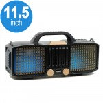 Full LED Light Portable Bluetooth Speaker with Carry Handle KMSE86 (Gold)