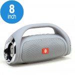 Power Sound Boom Box Carry Handle Bluetooth Speaker K836 (Gray)