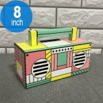 Retro Boombox Artistic Design Portable Bluetooth Speaker with Handle MY810BT (Pink)