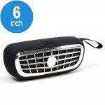 Mega Bass Car Grill Design Portable Wireless Bluetooth Speaker (NBS12 Black)