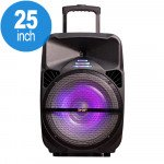 Wholesale Super X-Large Trolley Portable LED Bluetooth Speaker with Microphone and Remote QS1501 (Black)