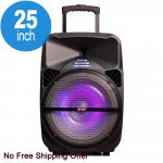 Super X-Large Trolley Portable LED Bluetooth Speaker with Microphone and Remote QS1501 (Black)