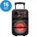 Wholesale Trendy LED Trolley Portable Bluetooth Large Speaker with Microphone and Remote QS807 (Black)