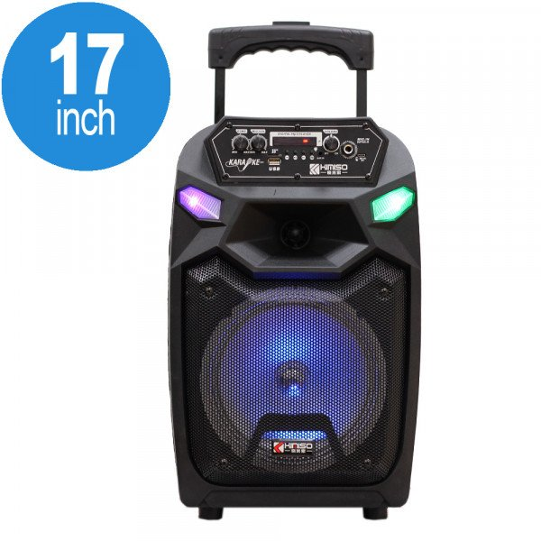 Wholesale LED Trolley Portable Bluetooth Large Speaker with Microphone and Remote QS811 (Black)