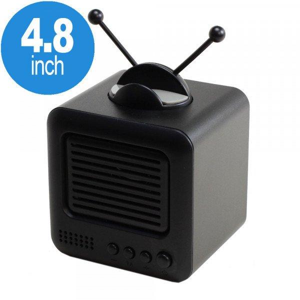 Wholesale Retro TV Design Heavy Bass Portable Bluetooth Speaker S117 (Black)