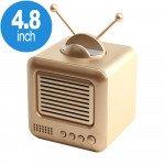 Wholesale Retro TV Design Heavy Bass Portable Bluetooth Speaker S117 (Gold)