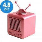 Wholesale Retro TV Design Heavy Bass Portable Bluetooth Speaker S117 (Pink)