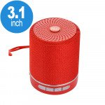 Round Shape Active Portable Bluetooth Speaker TG-511 (Red)