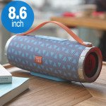 Extreme Drum Style Portable Bluetooth Speaker with Handle Strap TG109 (Gray Blue)