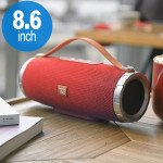 Extreme Drum Style Portable Bluetooth Speaker with Handle Strap TG109 (Red)