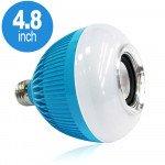 LED Wireless Smart Light Bulb Speaker RGB Color Change with Remote Control WJ-L2 (Blue)