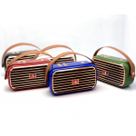 Wholesale Retro Boom Box Radio Style Portable Bluetooth Speaker X26 (Blue)