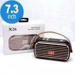 Wholesale Retro Boom Box Radio Style Portable Bluetooth Speaker X26 (Black)