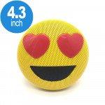 Emoji Loud Sound Portable Bluetooth Speaker with Strap YM-032 (Heart)