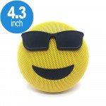 Emoji Loud Sound Portable Bluetooth Speaker with Strap YM-032 (Sunglasses)