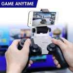 Wholesale Universal Cell Phone Clamp Bracket Holder with Adjustable Stand for PlayStation 4 / PS4 Pro Controller (Black) [Phone and Controller Not Included]