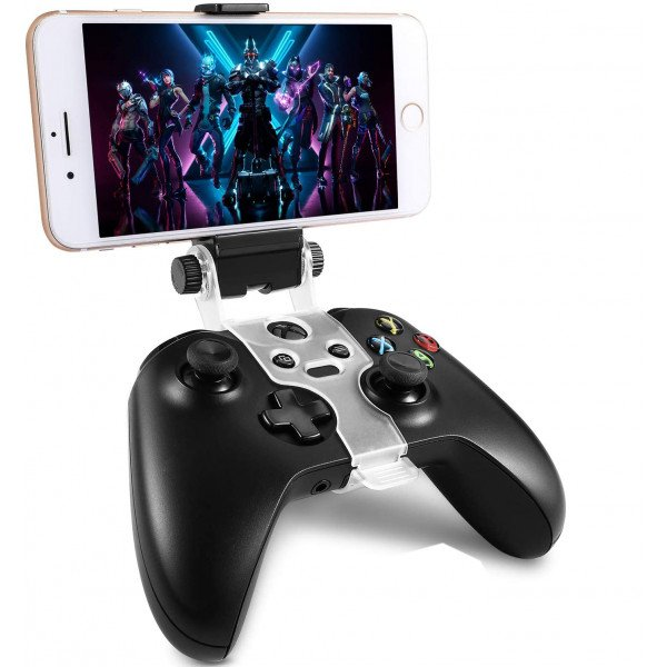 Wholesale Universal Cell Phone Clamp Bracket Holder with Adjustable Stand for Xbox One / S / Elite Controller (Black) [Phone and Controller Not Included]