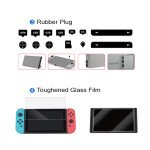 Wholesale 4 in 1 Essential Protection Accessories Bundle Kits with Carrying Case, Switch Storage Carrying Case, Tempered Glass Screen Protector, Silicone Rubber Cover Plug for Joy Con and Expansion Game Card Slot for Nintendo Switch (Black)