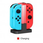 Wholesale Joy-Con Charging Dock with Lamppost LED Indication, Charger Stand Station Compatible with Nintendo Switch Joy-Cons with Charging Cable [Up to 4 Joy-cons] (Clear)