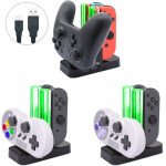 Wholesale Charging Dock Stand Station with Charging Indicator and USB-C Cable Compatible with Nintendo Switch Joy-cons and Pro Controller (Clear)