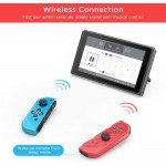 Wholesale Joy Con Controller Replacement for Nintendo Switch/Switch Lite, L/R Wireless Joy Pad with Wrist Strap, Alternatives Wired/Wireless Switch Remotes (Red/Blue)