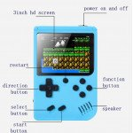 Wholesale 2 Player 500 in 1 Retro Classic Game Box Portable Handheld Game Console Built-in Classic Games (Gray)