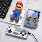 2 Player 500 in 1 Retro Classic Game Box Portable Handheld Game Console Built-in Classic Games (Gray)
