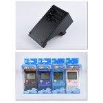 Wholesale 2.8 inch Screen Mini Portable Retro Game Arcade Game Console Machine Black and White Screen (Light Blue)
