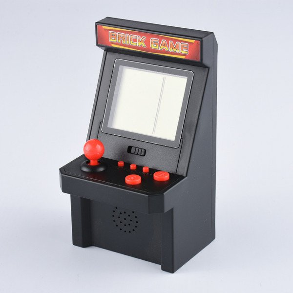 Wholesale 2.8 inch Screen Mini Portable Retro Game Arcade Game Console Machine Black and White Screen (Black)