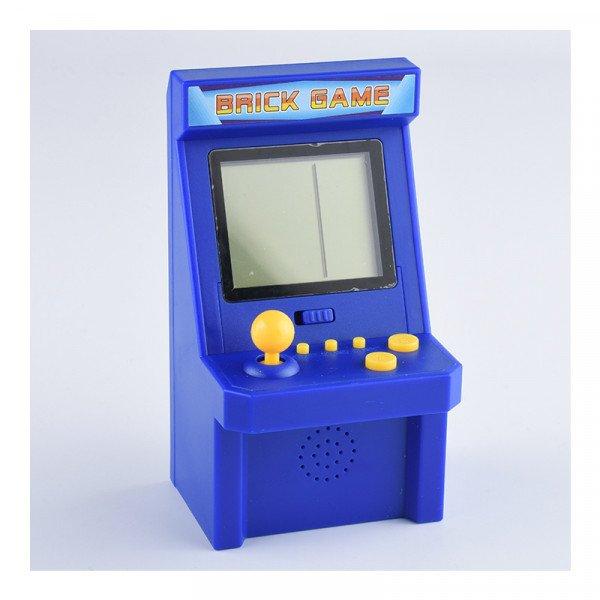 Wholesale 2.8 inch Screen Mini Portable Retro Game Arcade Game Console Machine Black and White Screen (Navy Blue)