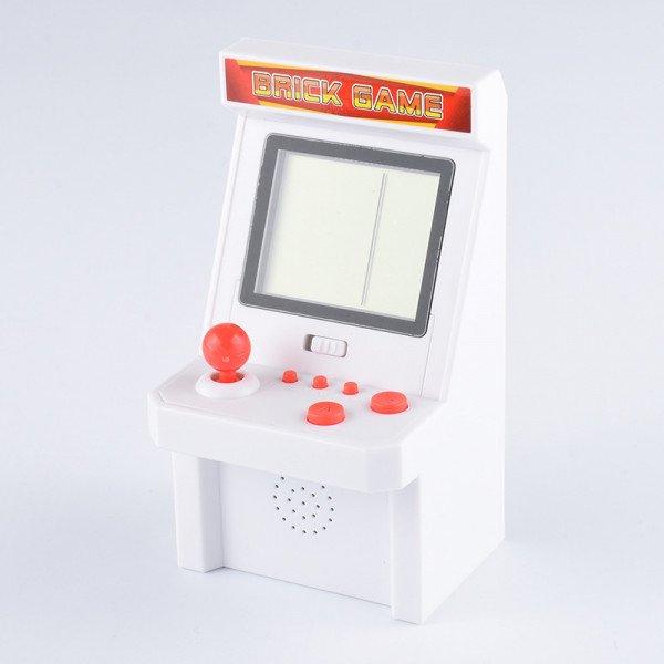 Wholesale 2.8 inch Screen Mini Portable Retro Game Arcade Game Console Machine Black and White Screen (White)