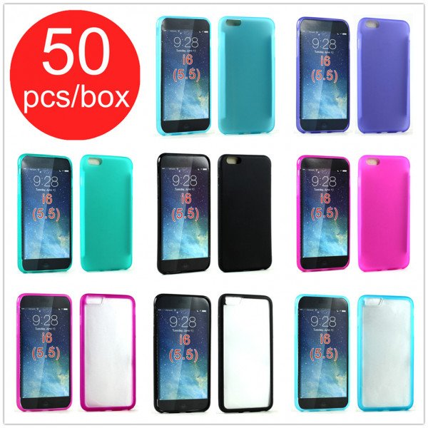 Wholesale 50pc Lot of iPhone 6S Plus / iPhone 6 Plus Assorted Mix Style Soft Cover and Color Cases - Lots Deal
