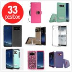 33pc Lot of Samsung Galaxy Note 8 Assorted Mix Style and Color Cases - Lots Deal (All Style)