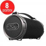 8pc Lot of Outdoor Bazooka Drum Style Portable Wireless Bluetooth Speaker S22B (Black) - Box Deal