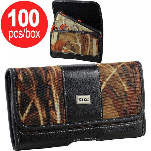 Wholesale Extendable Horizontal Deluxe Camouflage Belt Clip Pouch Curve Large 31 - Box Deal